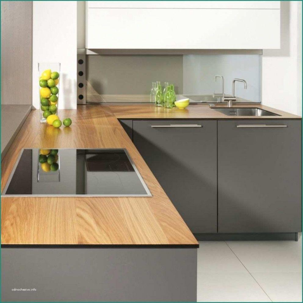 11 Küche Grau Holz Arbeitsplatte