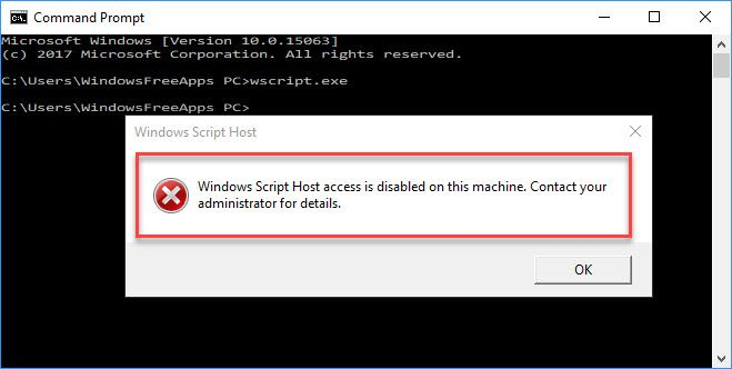 Windows script host access is disabled on this machine on windows 10 windows script host access is disabled on this machine on windows 10 ccuart Choice Image