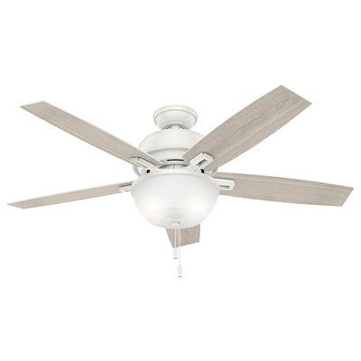 Hunter Fan 52 Donegan 5 Blade Ceiling Fan Finish White Ceiling