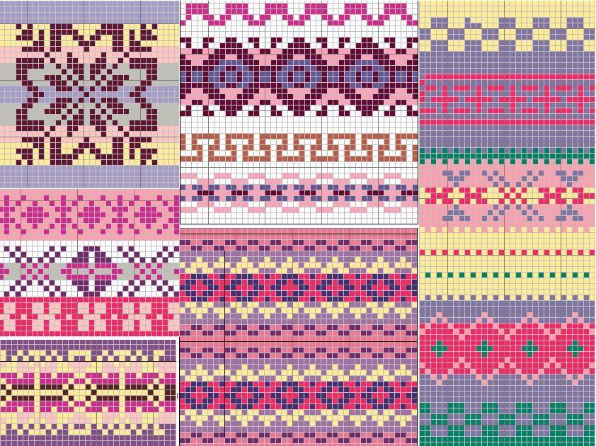 sampler fair isle pattern | For Sewing | Pinterest | Fair isle ...