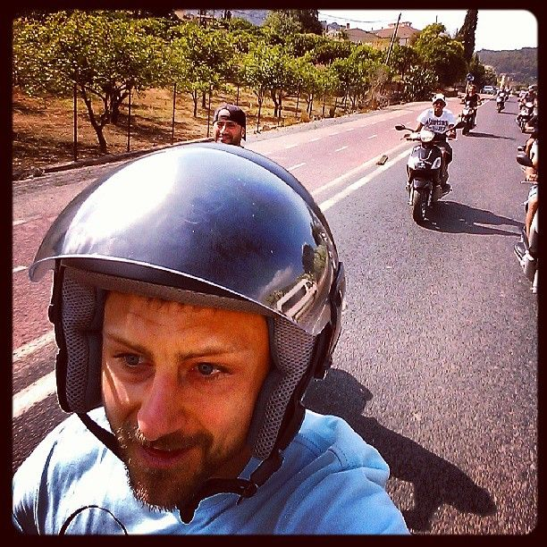 They just have too much fun----#Scooter#tour in #Mallorca with #great#friends#fun and #beautiful#views, all in safety...or sort of... ;) - @matteopeo81- #webstagram