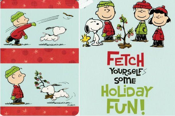 peanuts christmas card