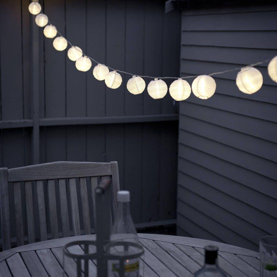 lantern fairy lights | decorating ideas | Pinterest | Gardens