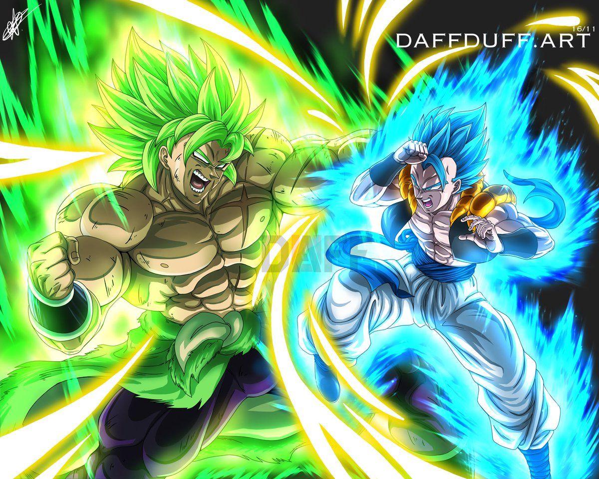 New Broly vs Super Saiyan Blue Gogeta | Dragon ball z ...