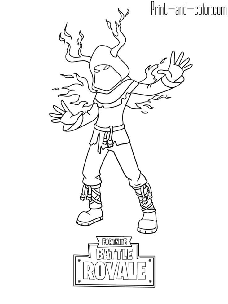 Fortnite battle royale coloring page Cloaked Shadow Skin