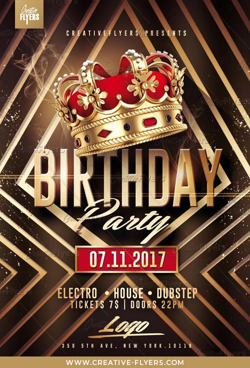 Birthday Party Flyer Psd Templates Creative Flyers Flyer