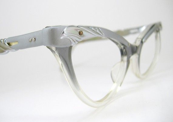 Vintage 50s 60s Cat Eye Eyeglasses Frame Never Worn