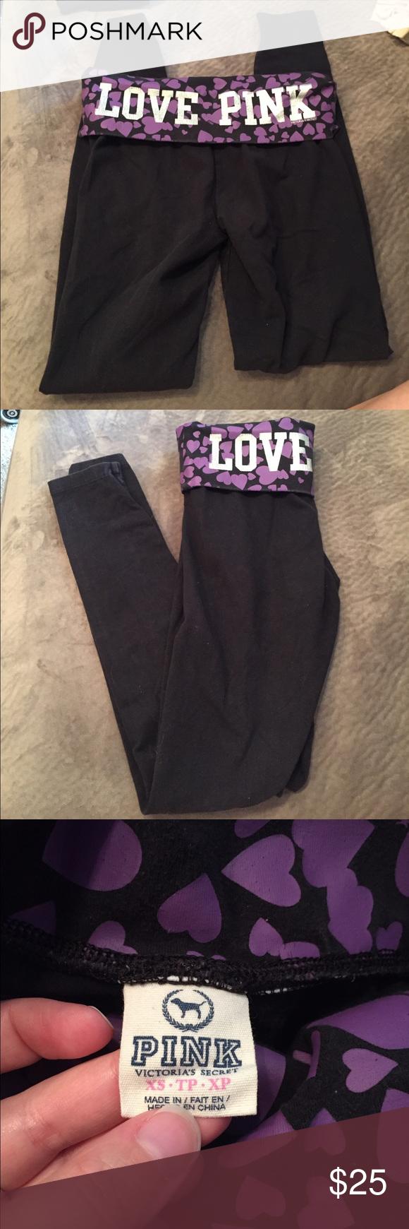VS PINK yoga leggings Size XS good condition. Cheaper on Ⓜ️ PINK Victoria's Secret Pants Leggings