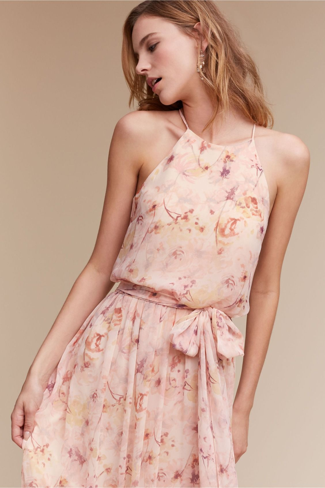 dusty hues bloom over this elegant chiffon | Alana Dress in Blush ...