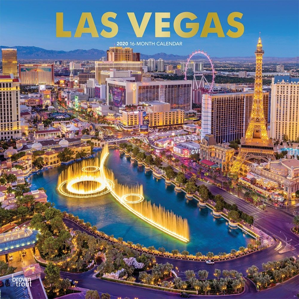 Las Vegas 2020 12 X 12 Inch Monthly Square Wall Calendar With Foil