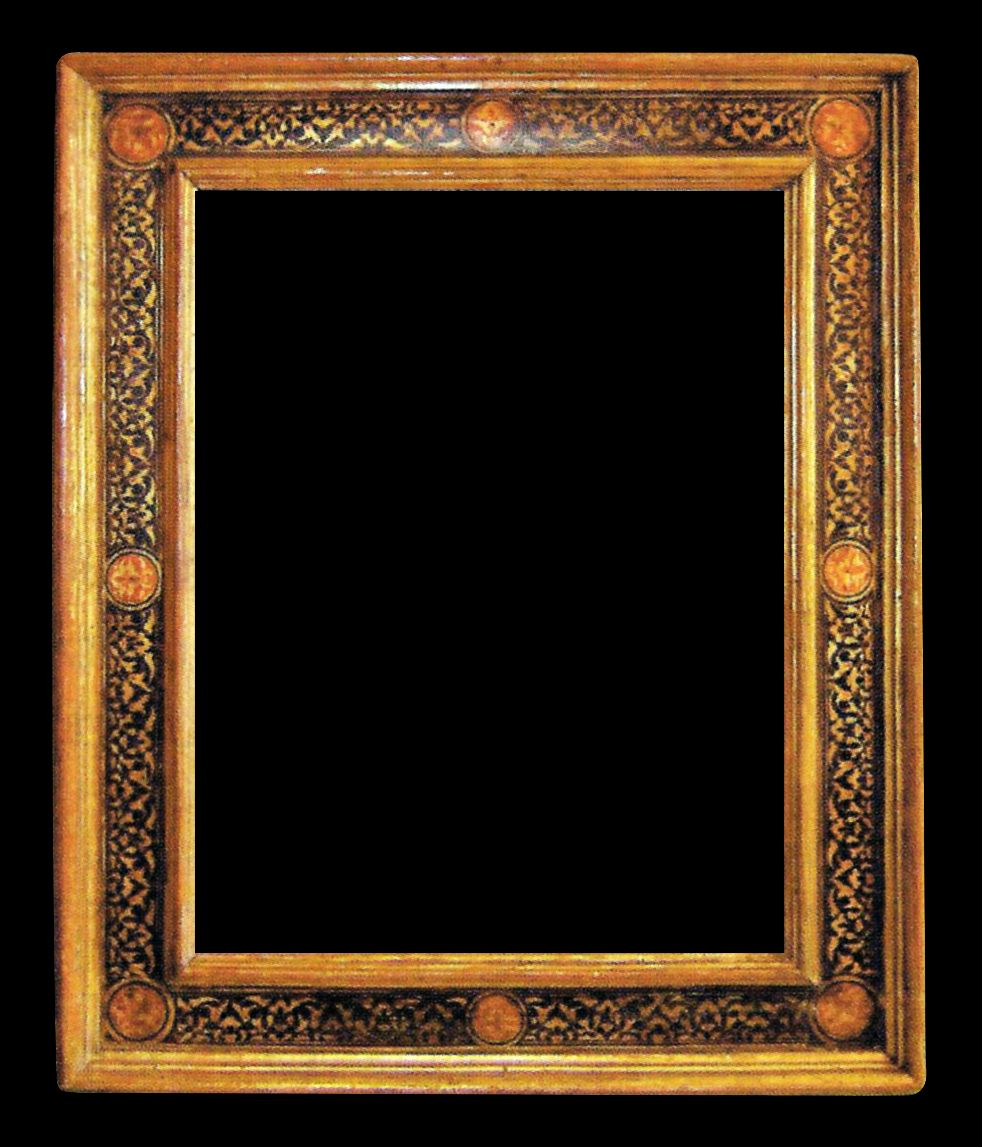 Style Cassette Italian 17th Century Frame With Gilded And Polychromed Surface And Sgraffito Decoration Pfm June 2 Vintage Picture Frames Picture Frames Frame