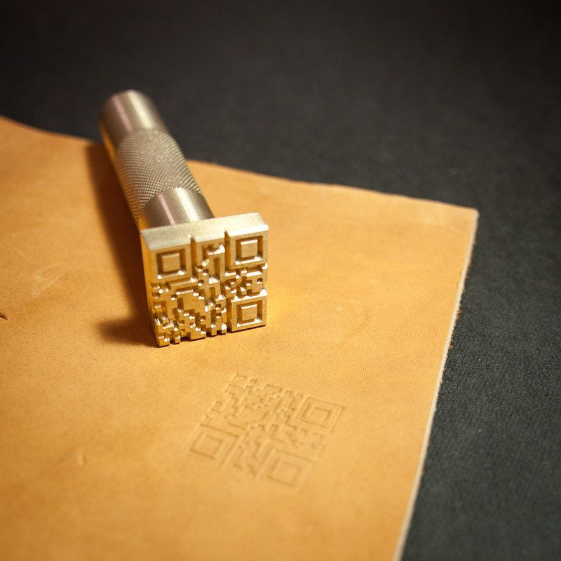 Diy Leather Embossing Stamp: Custom Leather Stamp With Hammering Handle For By