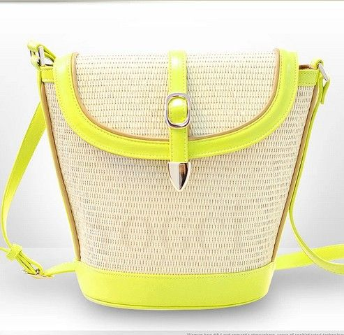 Stacy Bag New Arrival Women S Handbag Female Fashion Neon Color Straw Las Casual Bucket