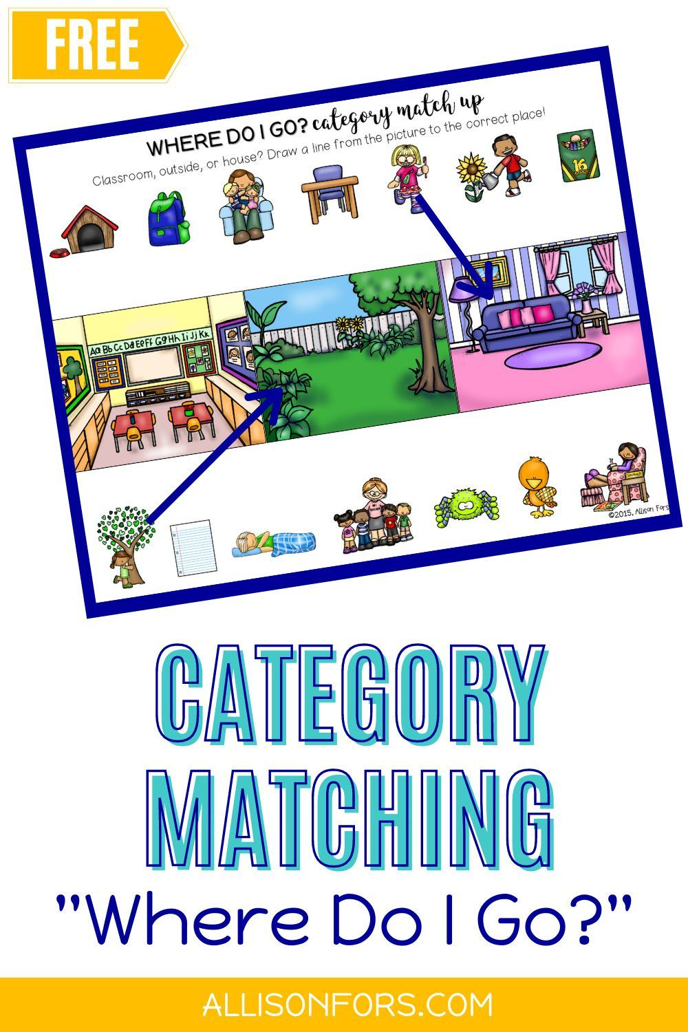Free Category Match Up Worksheets Speech Therapy Speech Therapy Activities Speech Therapy School Speech Therapy [ 1500 x 1000 Pixel ]