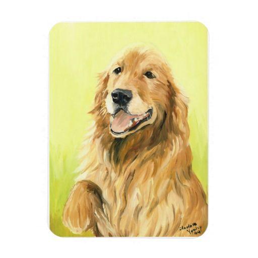 Golden Retriever Dog Art Magnet Zazzle Com Golden Retriever
