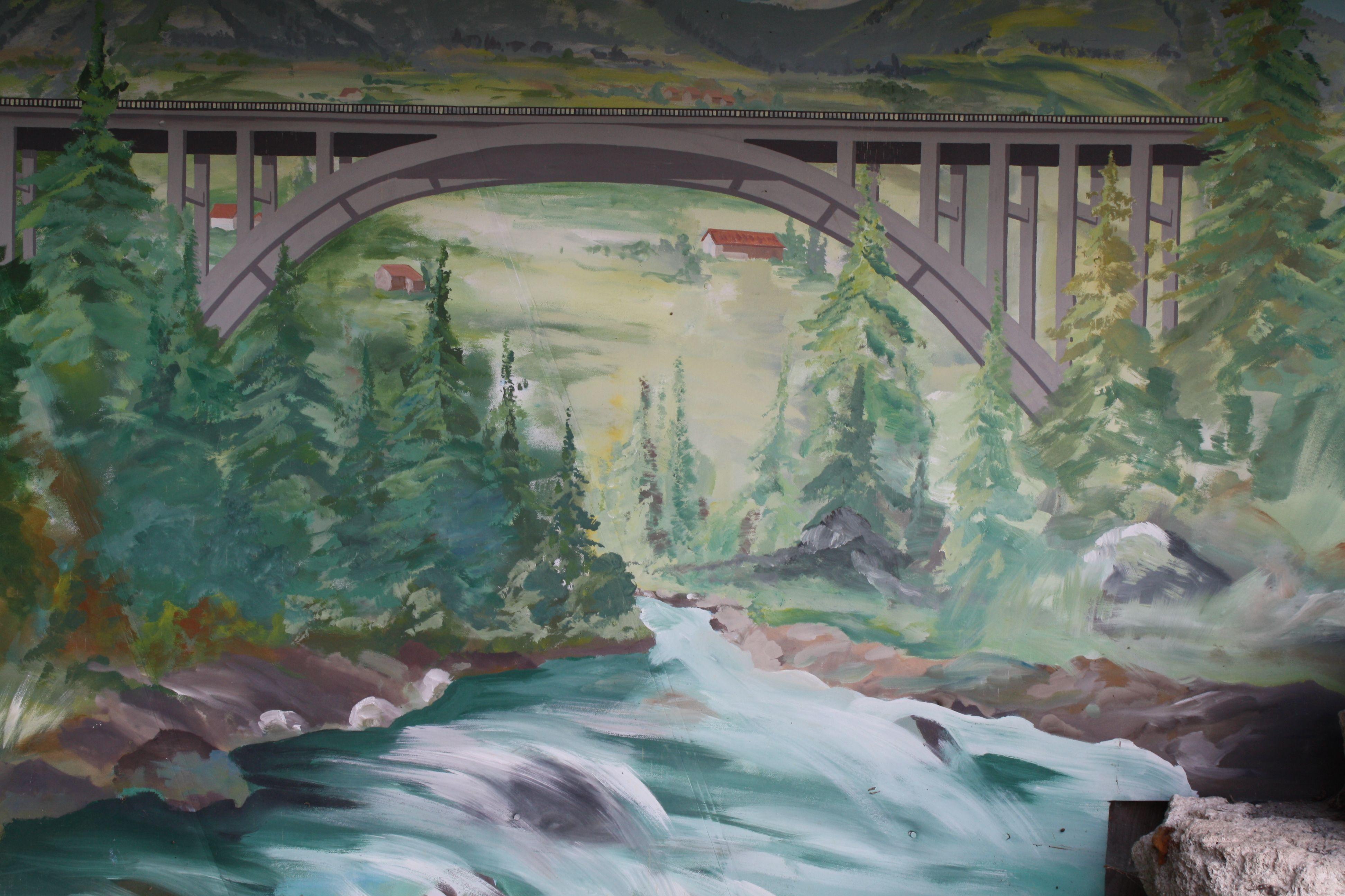 Wandgemälde, Soier See, Bad Bayersoien, Ammergauer Alpen
