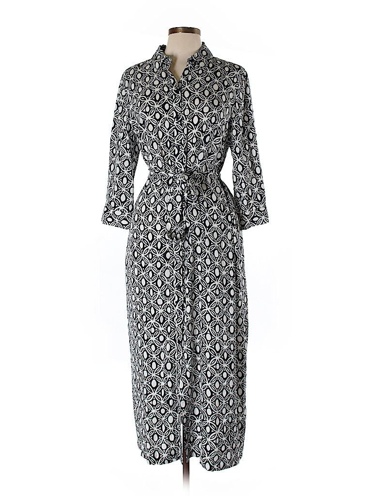 Casual dress talbots check and free shipping