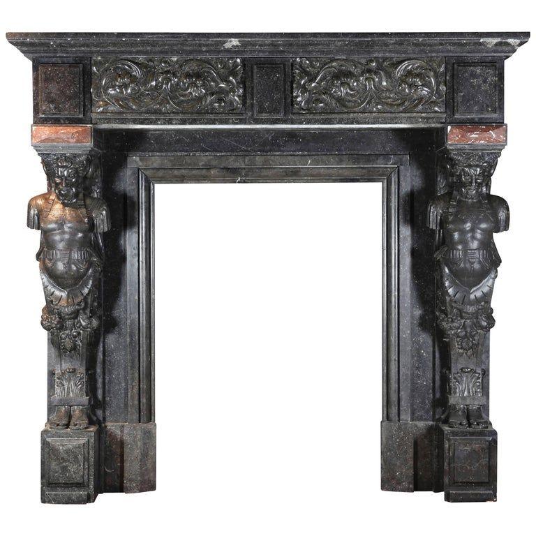 19th Century Belgian Antique Fireplace Mantel | Fireplace ...