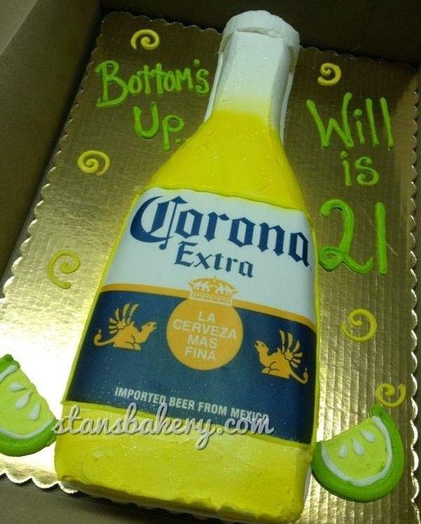 Corona Beer 21st Birthday Cake