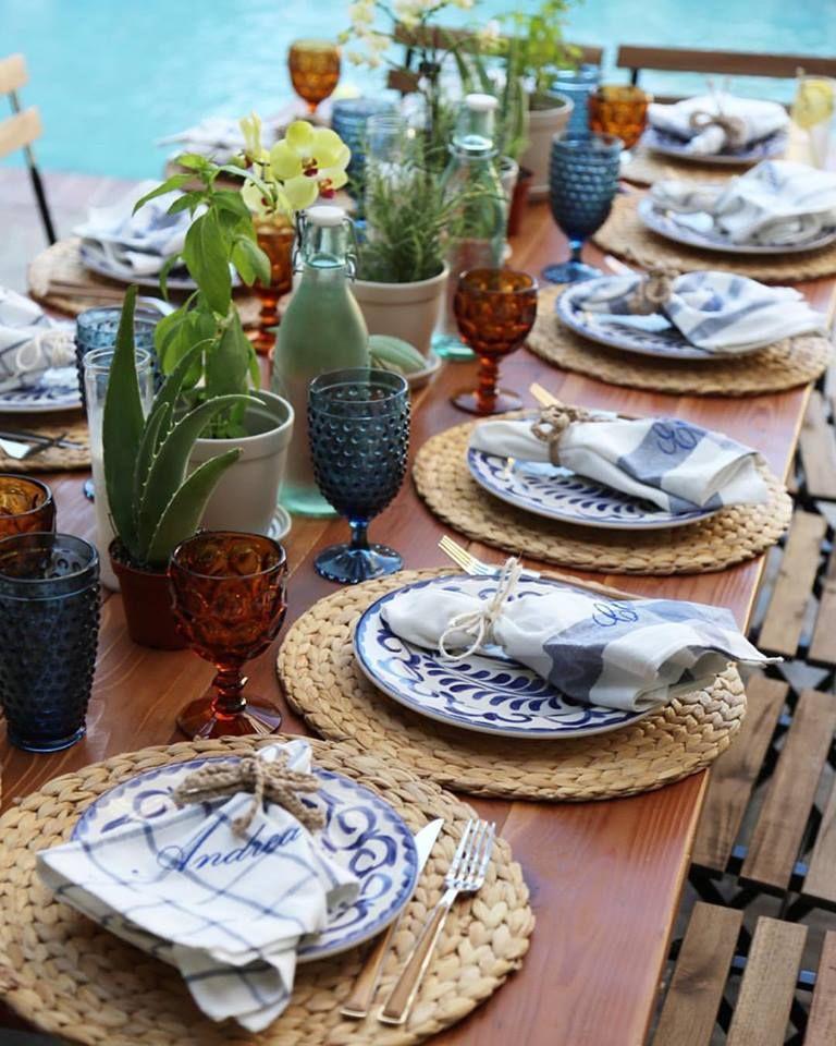 Talavera Mexican Rustic Minialmist Dinner Party Dinner