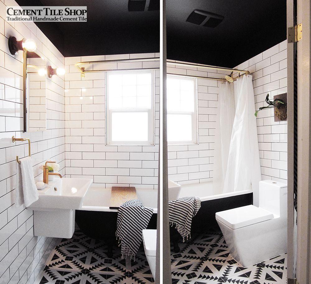 Cement Tile Shop - Tulum Pattern | Black and White Decor | Pinterest ...