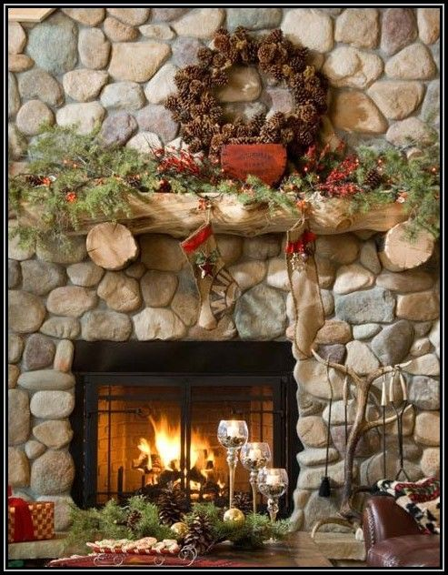 download log cabin christmas decorating ideas - Cabins Decorated For Christmas