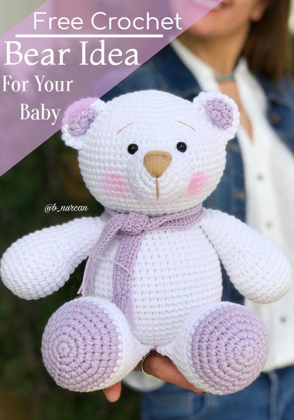 Häkelbär Muster - Amigurumi Muster   - Bären häkeln, stricken u. nähen - #Amigurumi #Bären #Häkelbär #Häkeln #Muster #nähen #Stricken #crochetbear