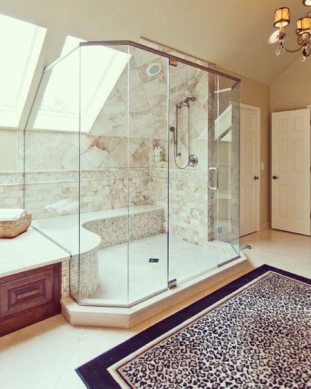 Big luxury shower#interiør #inspiration #luxury #bathroom Dream