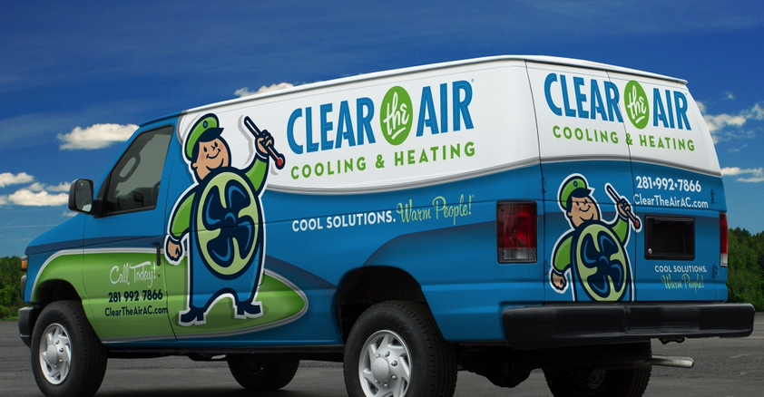 Vehicle Wrap Design For A Hvac Company In Texas Nj Advertising