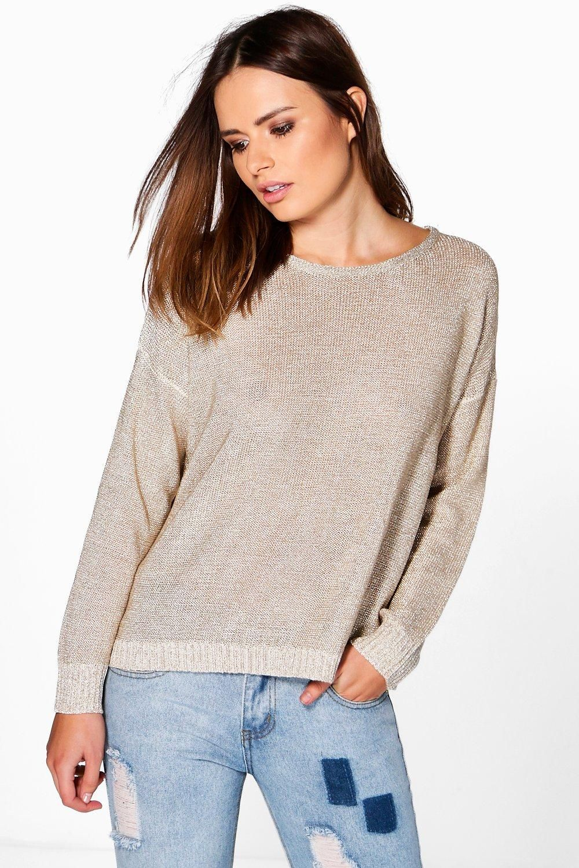 1867e659b3d139 Phoebe Metallic Jumper | lajk | Loose knit sweaters, Sweaters, Cute ...
