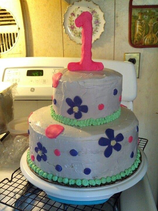 Easy Homemade 1st Birthday Cake Cakes Pinterest Birthday Cakes