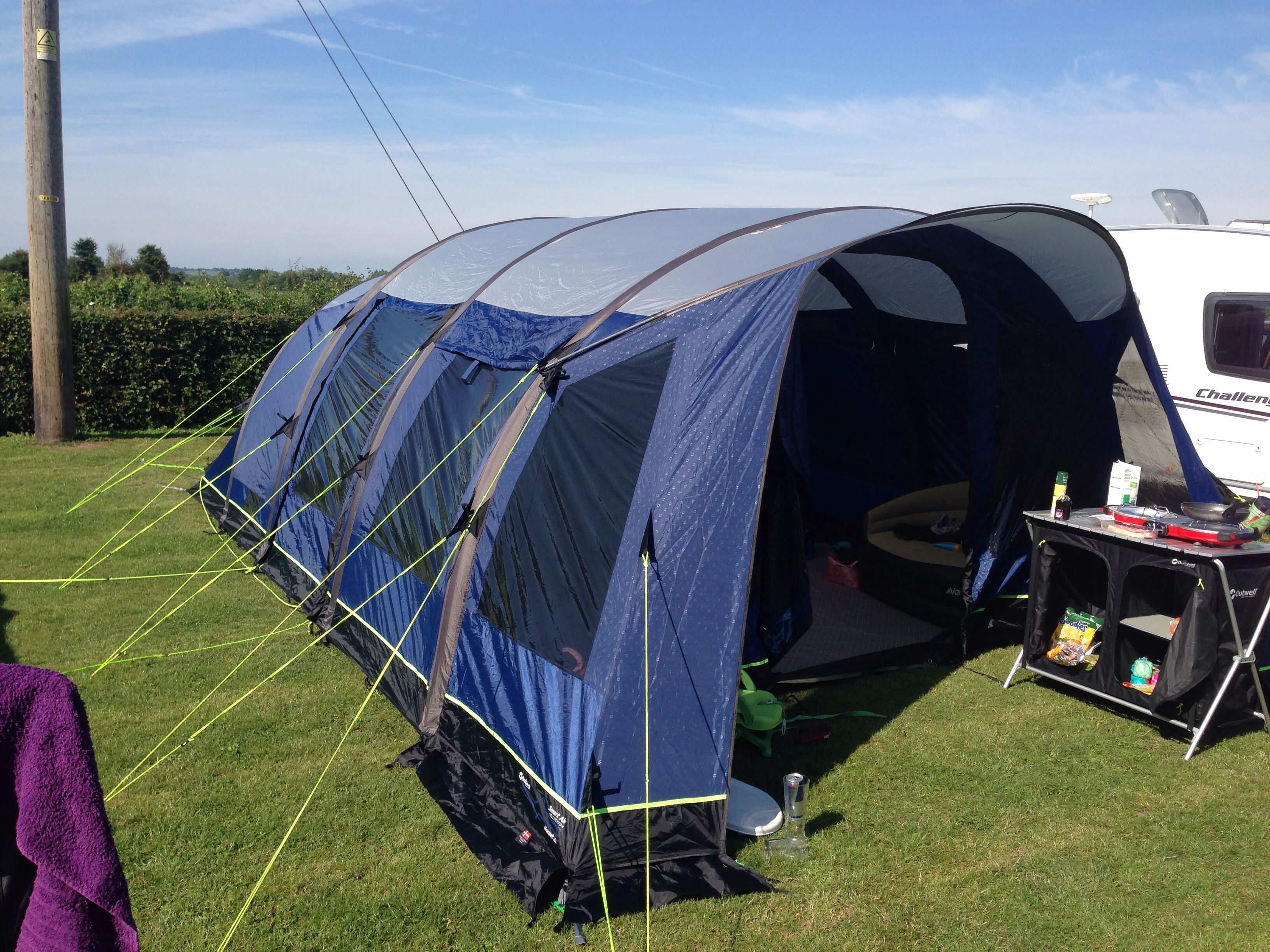The Outwell Hornet XL Smart Air tent at my last c&ing trip at the Hawbridge Inn & The Outwell Hornet XL Smart Air tent at my last camping trip at ...