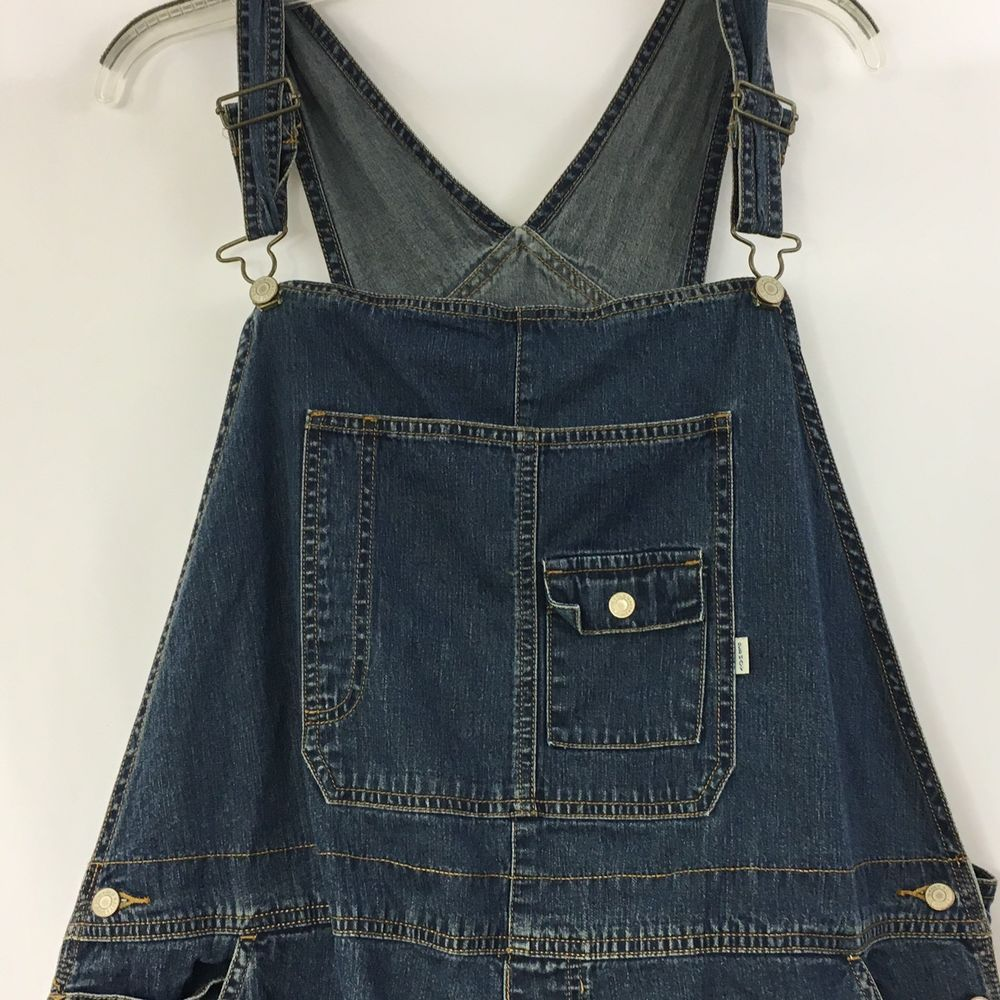 ef306a18fe0bd Old Navy Maternity Overalls Size XL Denim Jean Medium Wash Bib Halloween  Farmer #OldNavy #Overalls