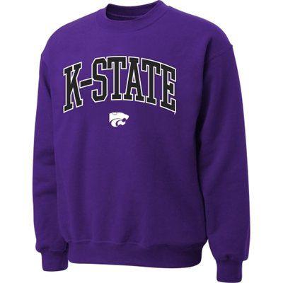 purple crewneck k-state sweatshirt