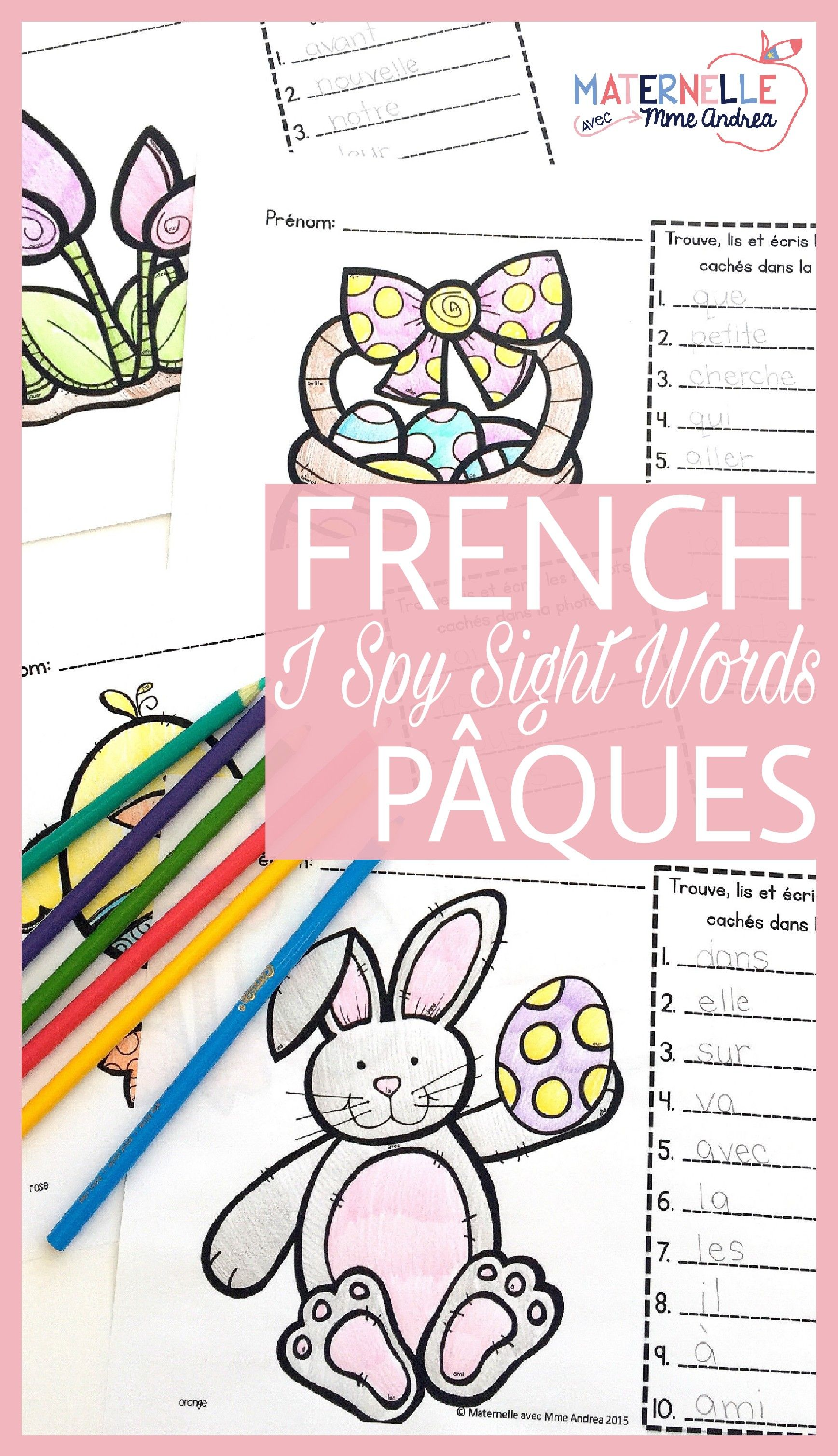 French Easter Sight Word Reading Amp Writing Practice