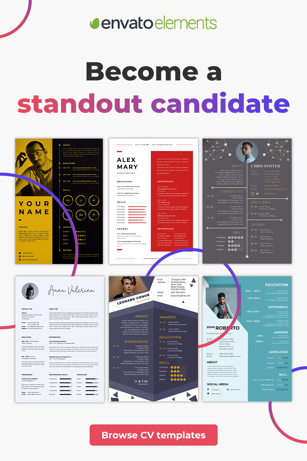 Unlimited Downloads of the Best CV & Resume Templates