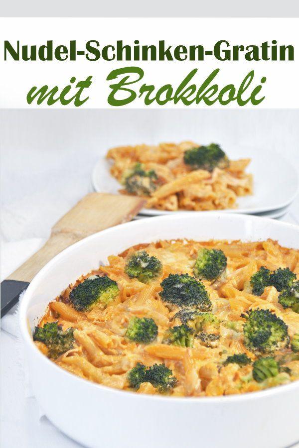 Nudel-Schinken-Gratin. Mit Brokkoli. #chickentacorecipes