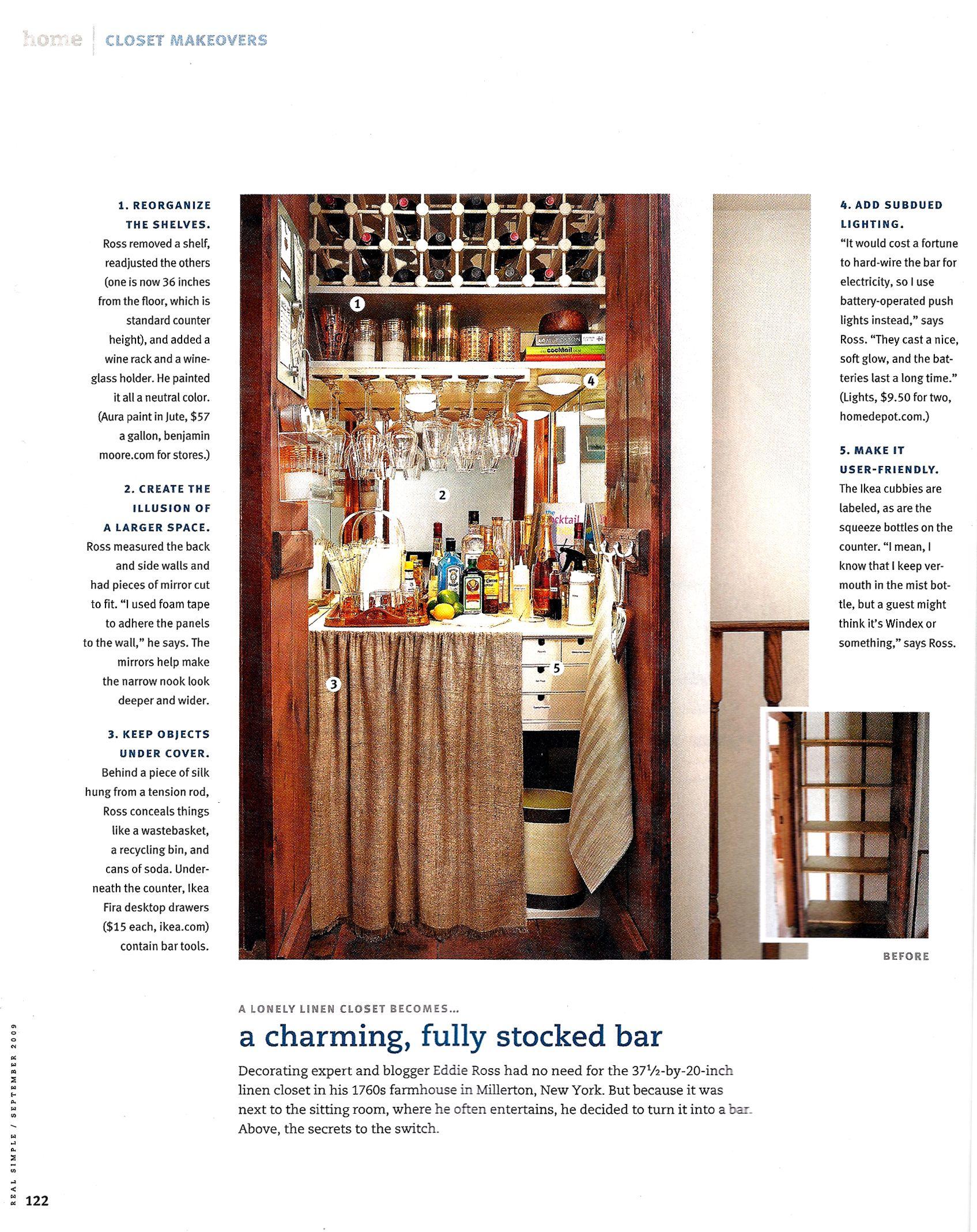 Convert A Closet Into Fully Stocked Bar Man