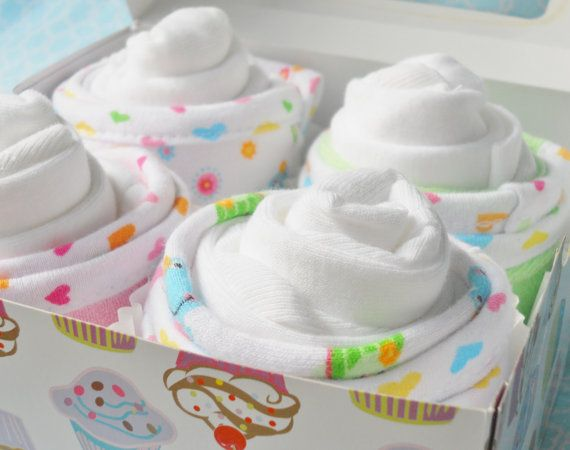 Baby Washcloth Cupcakes....Baby di ForeverBabyBliss su Etsy