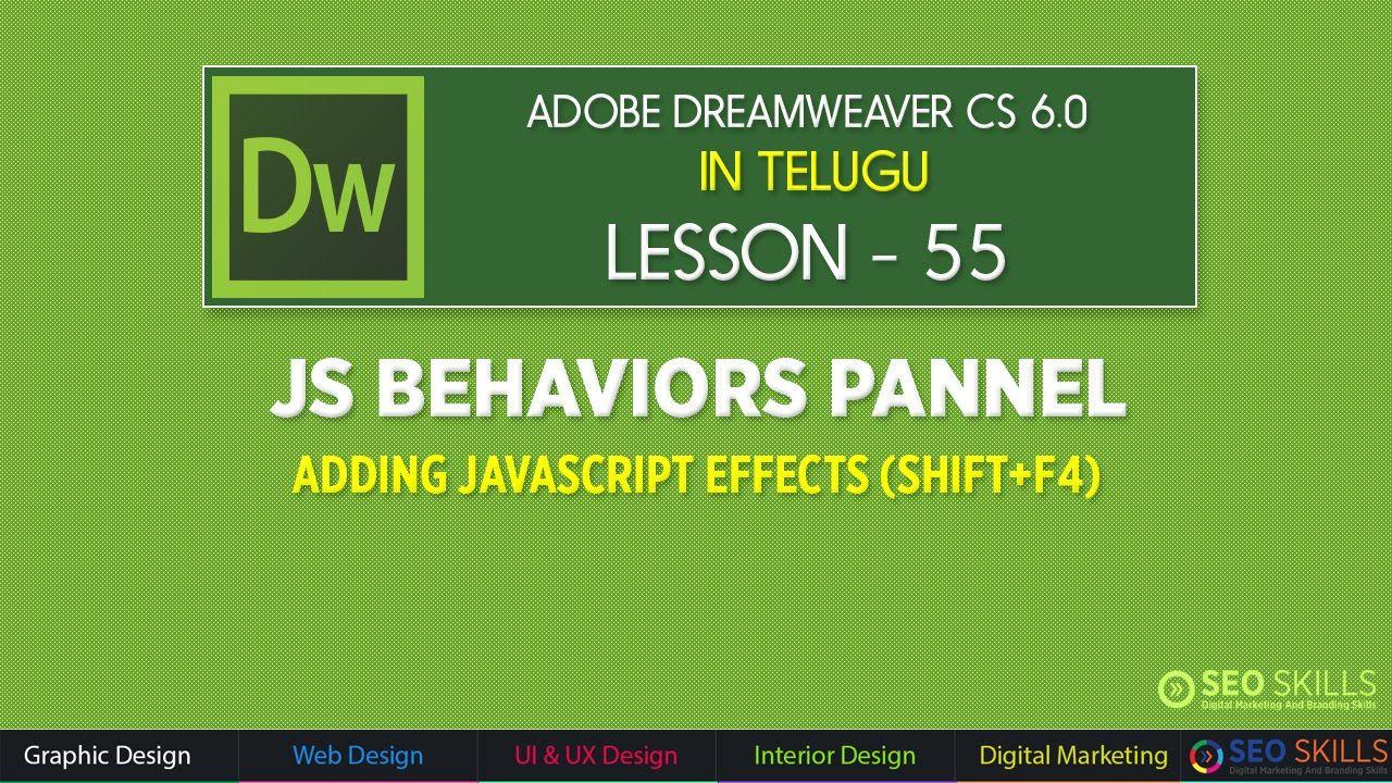 Adobe Dreamweaver Telugu Tutorials From Seo Skills Hyderbad Web Design Web Design Tutorials Free Web Design