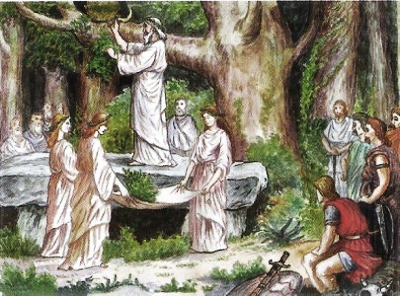 The Winter Solstice - The Druids  Mistletoe  Druid -6374