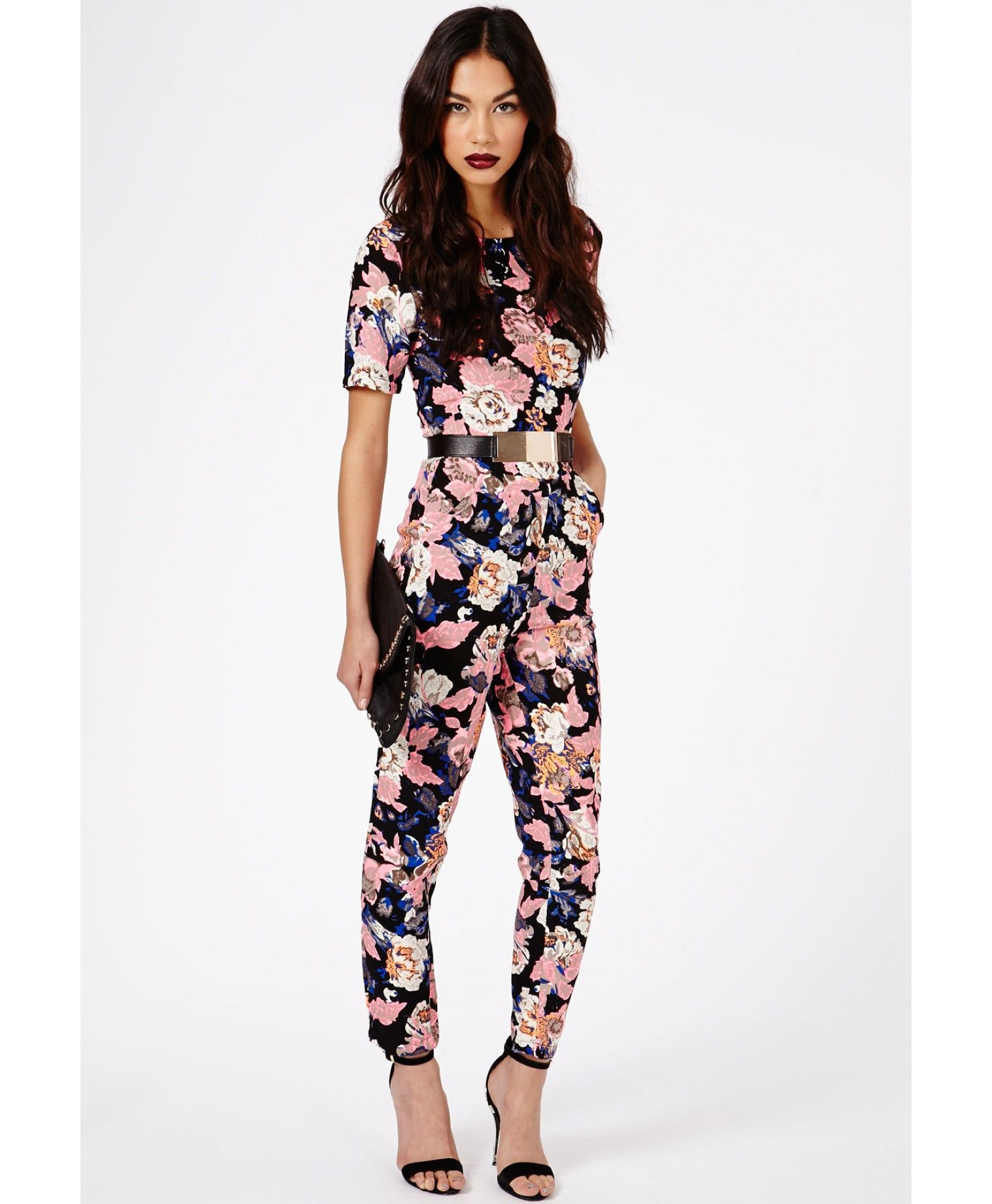 Keiko Floral Print Jumpsuit - Jumpsuits   Playsuits - Clothing - Missguided 953665e31db