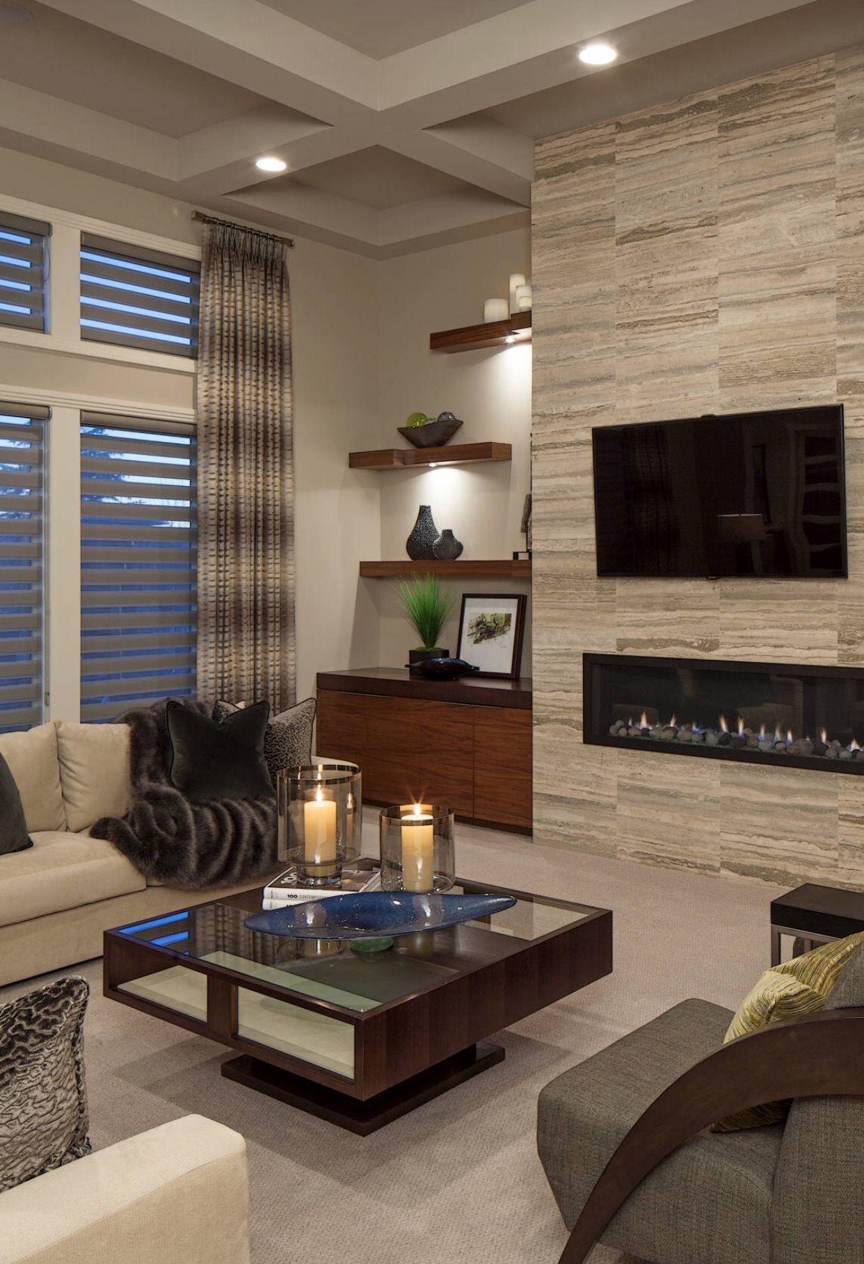 Neutrale Wohnzimmer, Zeitgenössische Wohnzimmer, Wohnräume, Moderne  Wohnzimmer Vorhänge, Formale Wohnzimmer, Wohnzimmer Jalousien, Moderne  Kamine, ...