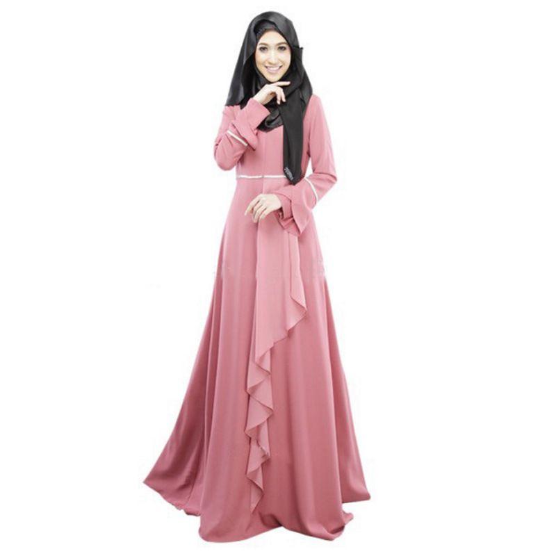 Arabian Dress Solid Long Malaysian Traditional Dress Fashion ...