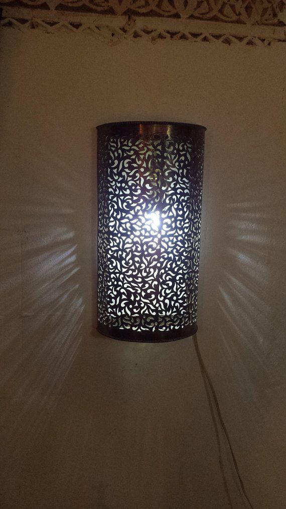 Moroccan lamp, lamp Wall lamp brass Oriental lightning romantic ...