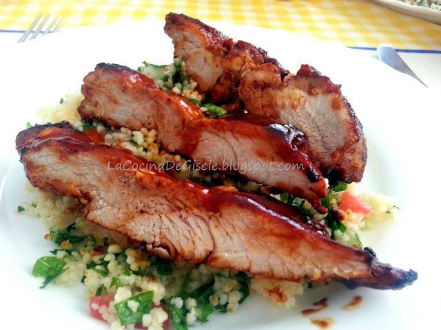 Lomo De Cerdo Con Salsa Barbecue Cerdo En Salsa Lomo De Cerdo Lomo En Salsa