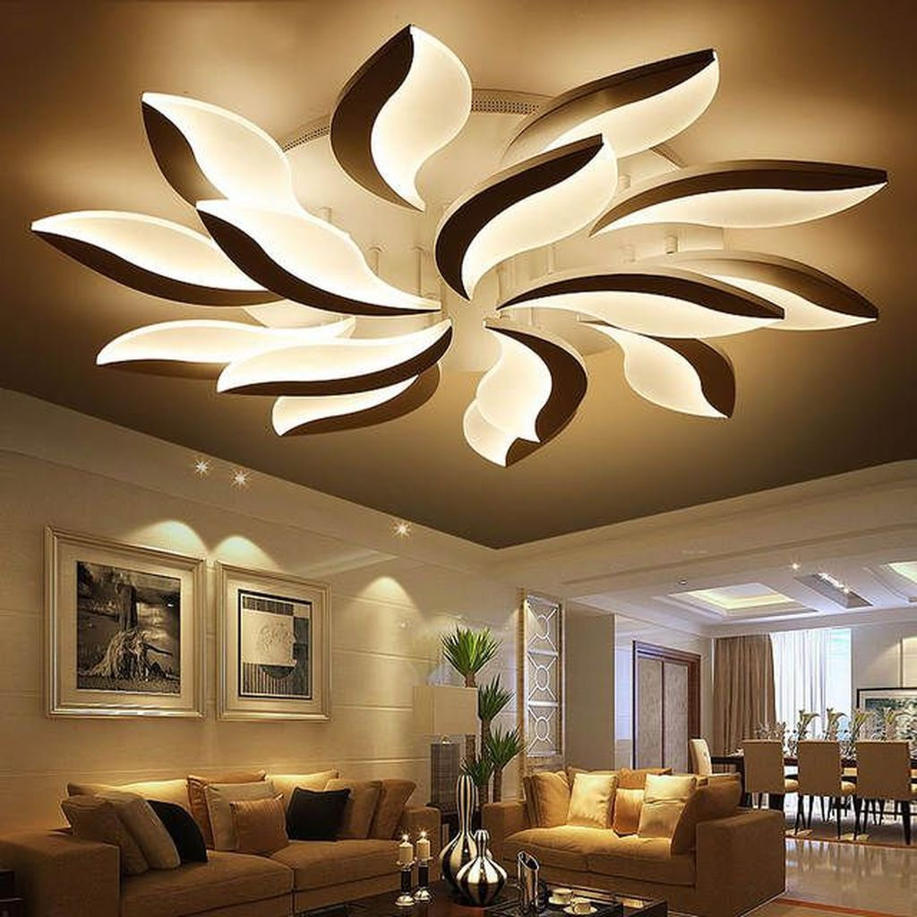31 Nice Living Room Ceiling Lights Design Ideas With Images Living Room Ceiling Ceiling Lights Living Room Modern Led Ceiling Lights