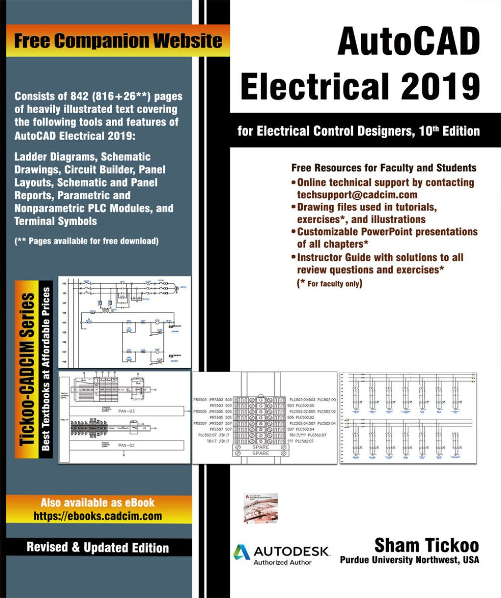 Autocad Electrical 2019 For Electrical Control Designers 10th