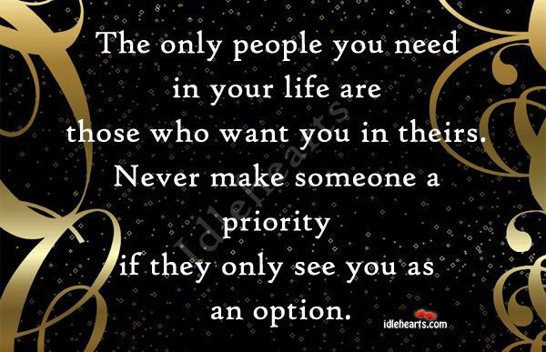 Never be an option