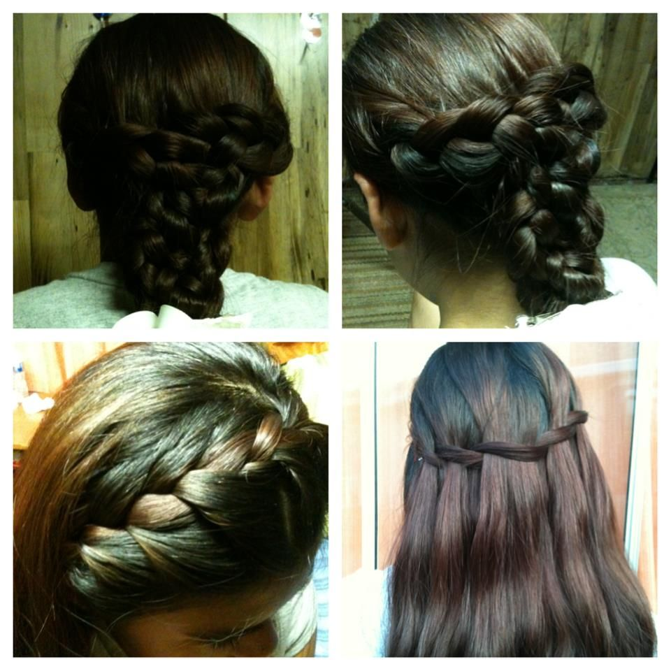 Differ hair styles weave braid french braid waterfall braid my